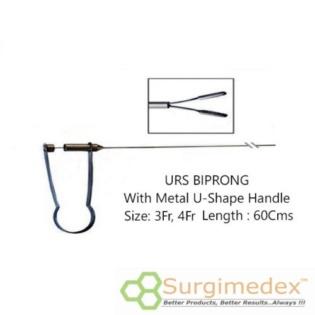 URS Forceps 4Fr 60Cms With U-Shape Metal handle – Biprong