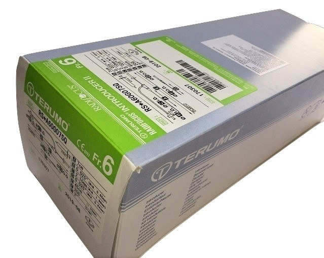 Terumo Radial Sheath Introducer 6Fr 7Cms RS*A60G07SQ (Box of 5)