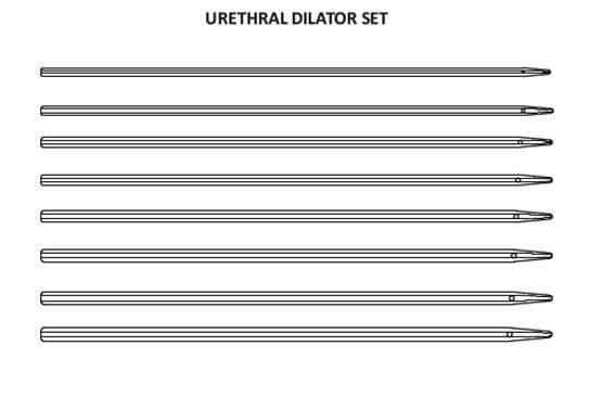 Urethral Dilator Set 8FR-24FR * 40Cms