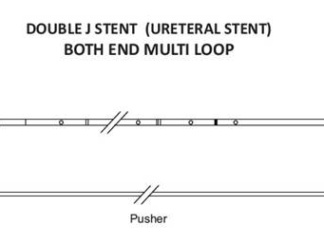 Ureteral double j stent multi loop india