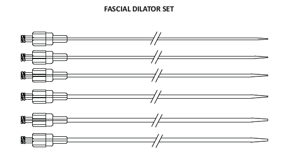 Fascial Dilator Set 6-16Fr 22Cms