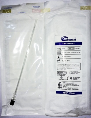 Chiba Needle Disposable by EndoBest™ 20G, 22G, 23G * 15Cms