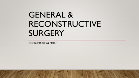 General and reconstructive surgery supplies at best prices in India online