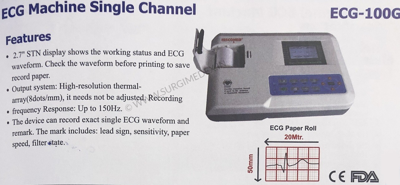 ecg machine single channel price india online
