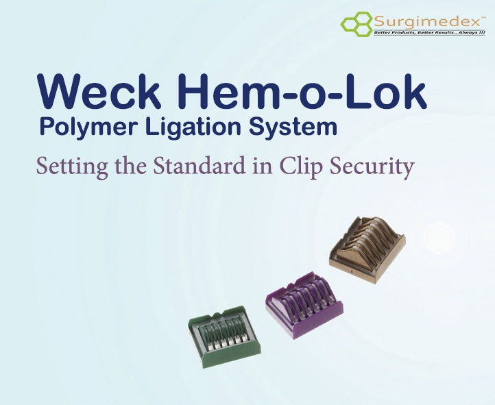Hem-o-lok Polymer Ligating Clip (Green, Purple, Brown) by Weck Teleflex (1 Box)