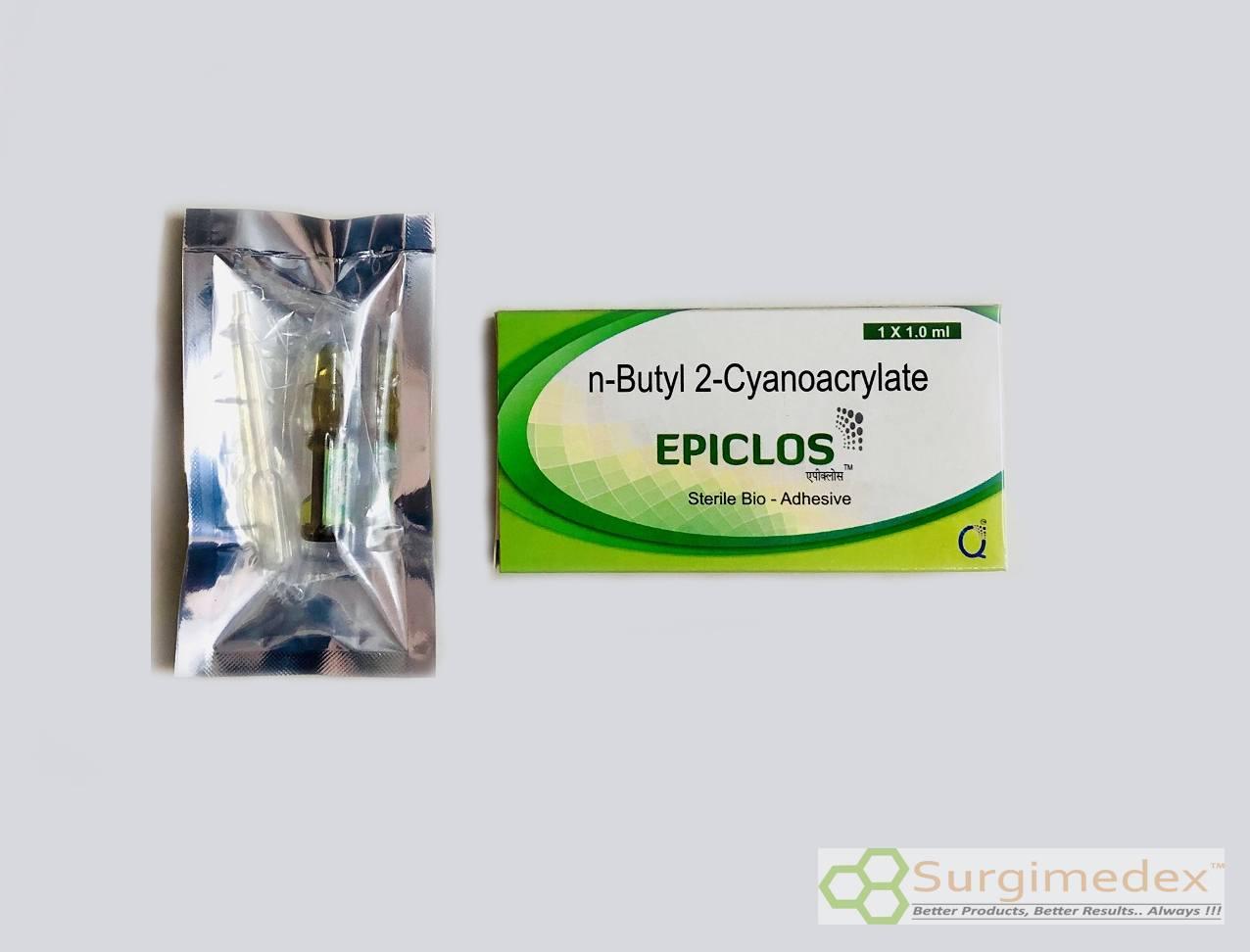 Sterile Bio Adhesive, Tissue sealer, Tissue Adhesive – N-Butyl 2-Cyanoacrylate Inj. 0.50ml – 1.0ml