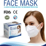 KN95 Face Mask Respirator with 5 Layer Construction for Maximum Protection (BFE > 97%, Equivalent to FFP-2 and NIOSH N95) (Box of 20)